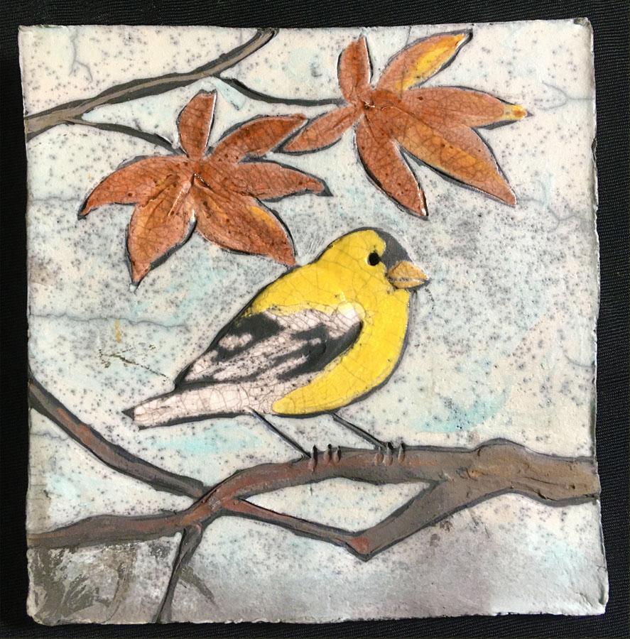 Goldfinch Tile, 5x5 $38