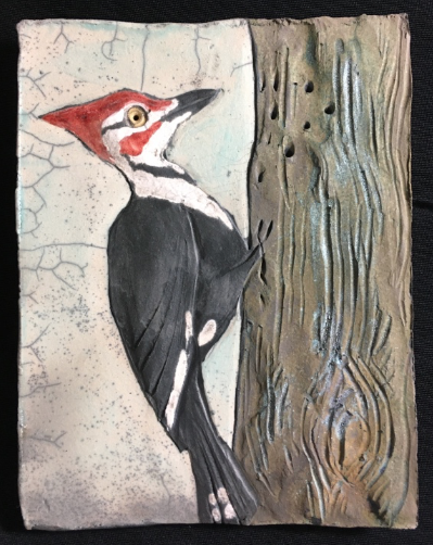 Pileated Woodpecker Tile 5x7 $42