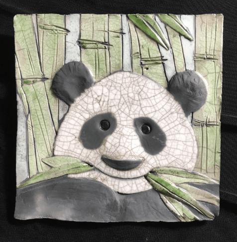 Panda Tile 2, 5x5, $38